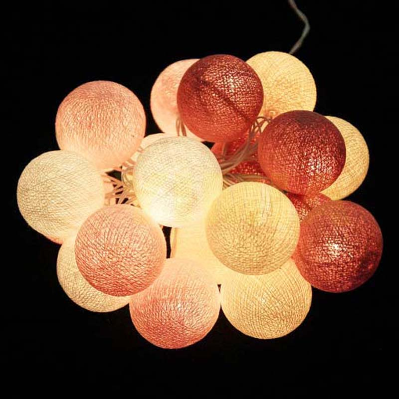 Cotton Ball Led String Fairy