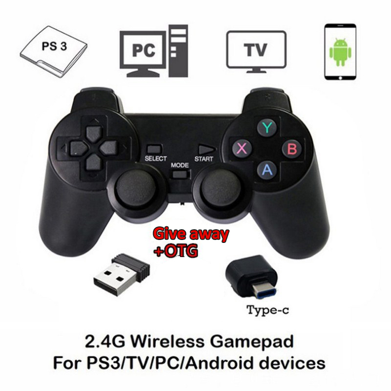 2pcs 2.4G Wireless Gamepad for PS3 Bluetooth Game Remote Controller Game pad Joystick fo ...