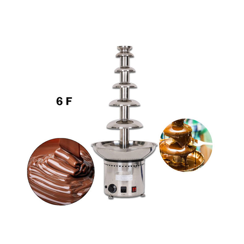Chocolate Waterfall Machine With Full Stainless Steel Food Machine 6 Layers Chocolate Fountains Commercial 220v 3 layers household mini stainless steel chocolate fountains machine chocolate waterfall maker machine for family party