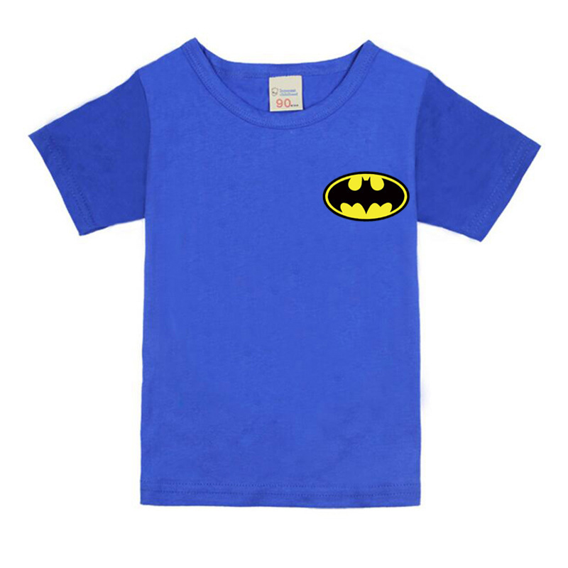 T-Shirts Batman Children Clothing Tops Short-Sleeve Baby-Girls Boys Kids Cotton Summer