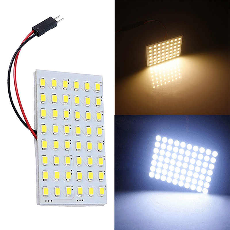 Baru LED Panel 48 SMD COB LED 4W 12V Putih Lampu Interior Lampu Panel Lampu Dome Bulb LED panel Cahaya