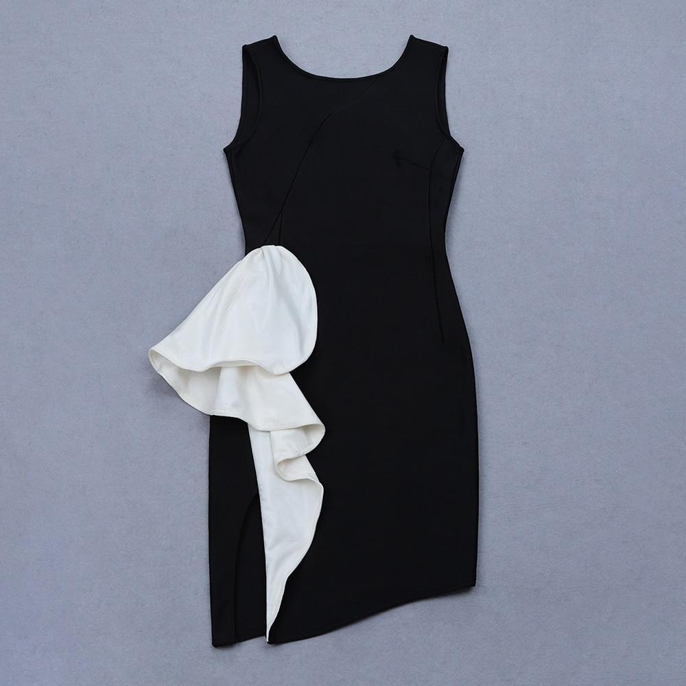 af81509e60f9 Manches Moulante Nu Sexy Zipper Noir Bandage Clubwear Robes Party Patchwork  Dos Celebrity Nouveau Ruches Sans Robe 2019 qgBUfU