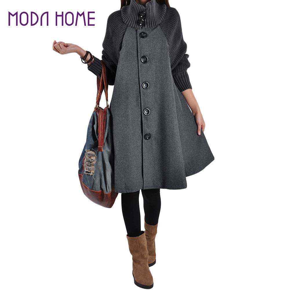 Compare Prices on Plus Size Wool Cape Coat- Online Shopping/Buy ...