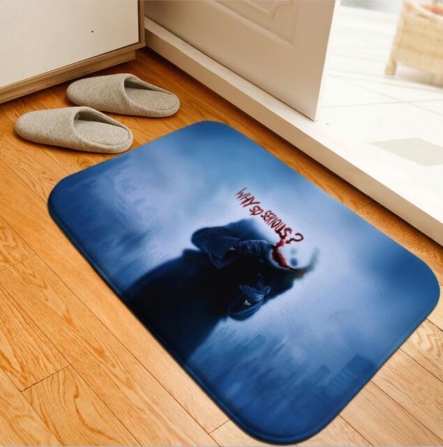 Superb Aliexpress.com : Buy Bath Mat Batman Joker Printed Rug Toilet Carpet  Flannel Non Slip Bath Mat Absorbent Bathroom Mat Floor Mat 40x60cm Custom  From Reliable ...