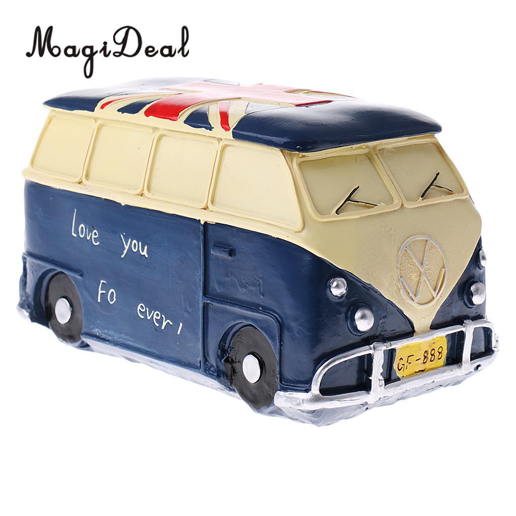 Vintage Money Saving Pot Piggy Bank Kids Toy for Home Office Desk Decoration Blue
