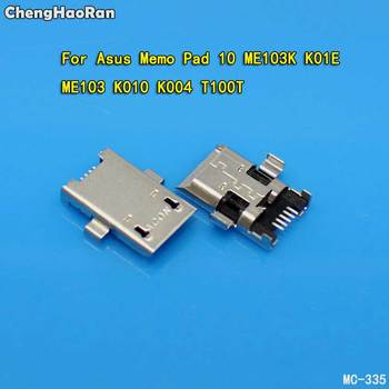 ChengHaoRan 2pcs Micro USB Connector Jack Socket Dock Plug For ASUS Memo Pad 10 ME103K K01E ME103 K010 K004 T100T Charging Port image