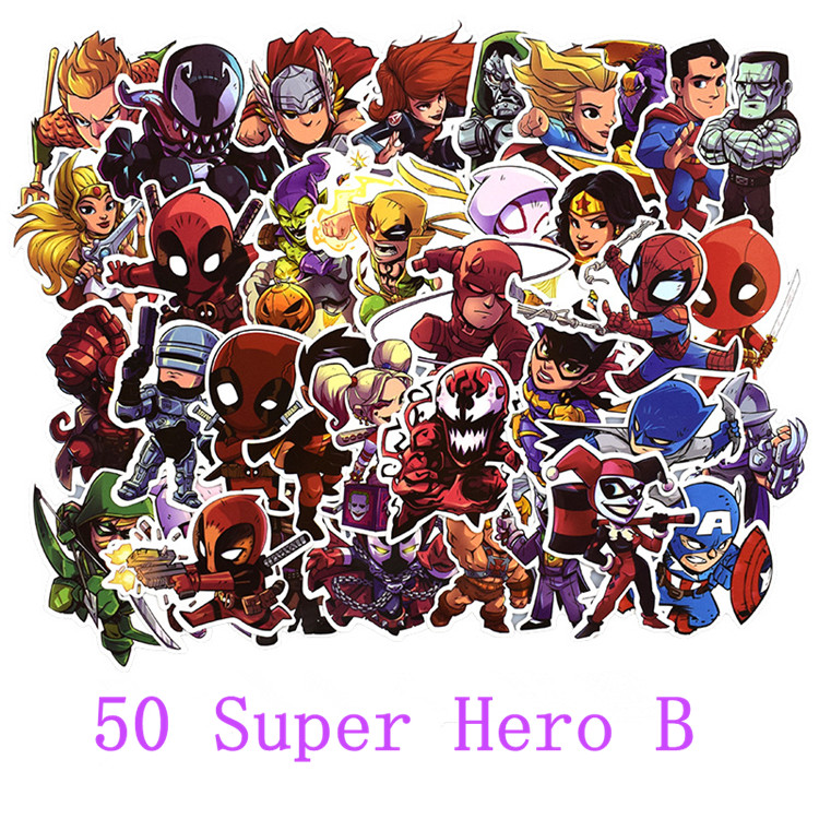 Image 2 - 50 pcs/pack stickers Classic Fashion Style Graffiti Stickers For Moto car suitcase cool laptop Cartoon anime Skateboard sticker-in Stickers from Toys & Hobbies
