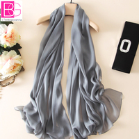 100 Pure Silk Solid Colors Women Fashion Scarves Big Size 180x100cm Ultra Thin Soft Textile High