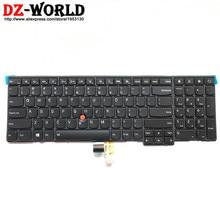 جديد/أصلي لوحة مفاتيح بإضاءة خلفية إنجليزية للولايات المتحدة لـ Thinkpad T540P W540 W541 T550 W550S T560 P50S إضاءة خلفية Teclado 04Y2465 04Y2387 0C45030