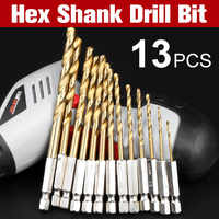 1Sets HSS Hex Schaft Bohrer Set 1,5-6,5mm Hexagonal Schraube Bohrer Power Tools Holz Werkzeuge für holz Kunststoff Arbeits