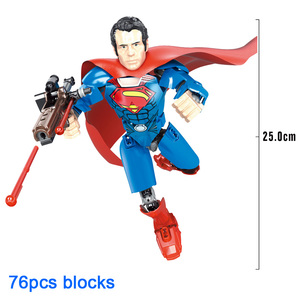 Image 4 - Avenger Super Hero Thor Captain America Ironman Superman Buildable Action Figure Building Block Toy Brick Compatible with
