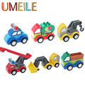 UMEILE Duplo Original Policeman Ladder Truck Crane Shovel Tanker Freight Car City Large Building Blocks Assemble Baby Toys Gift