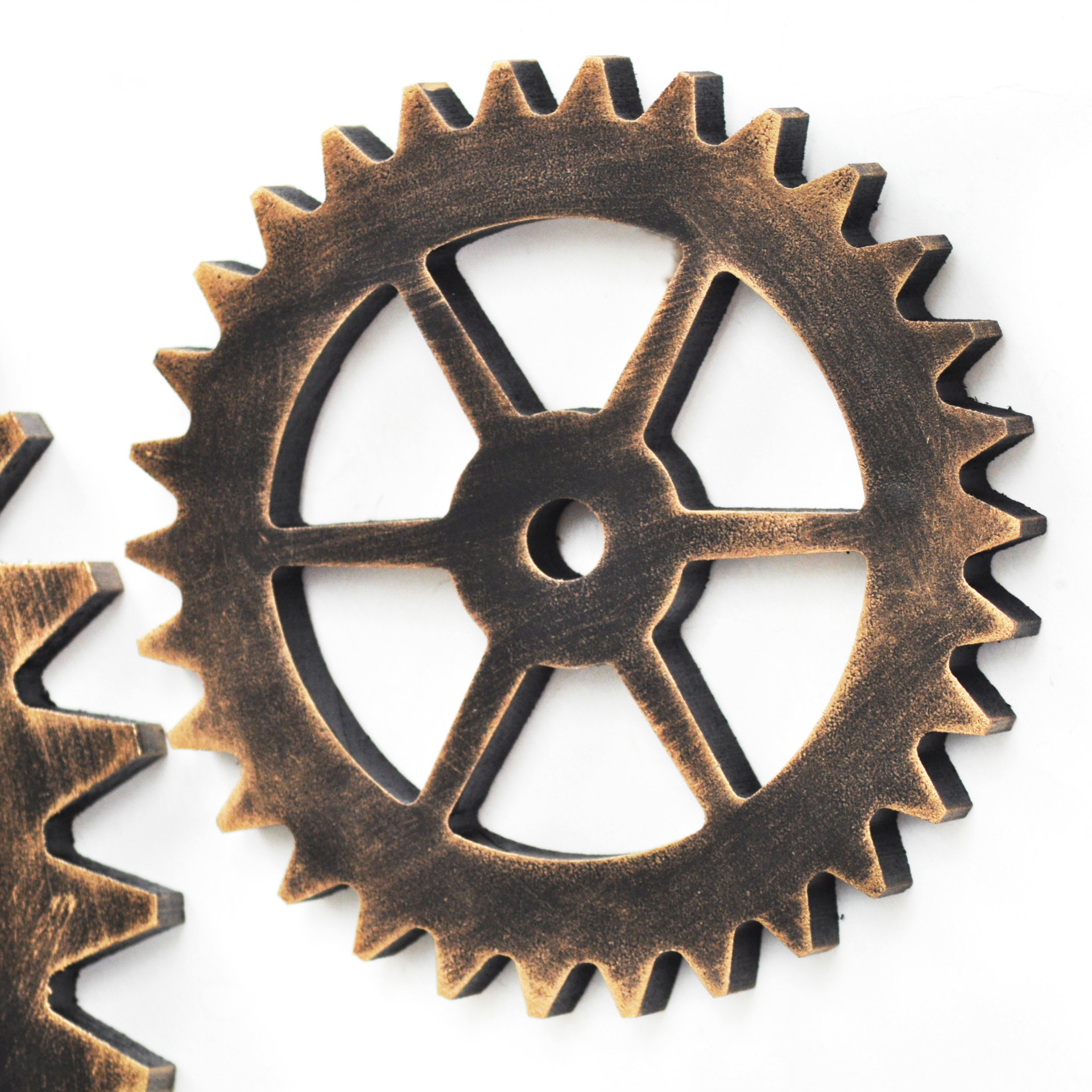 2pcslot 14cm mini retro industrial style wheel shaped wooden crafts shabby chic vintage bar