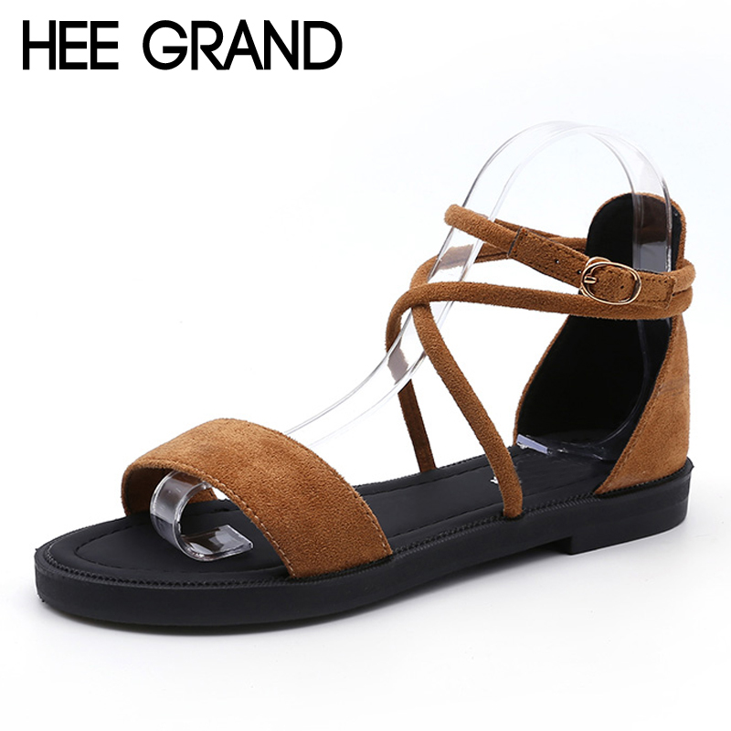 HEE GRAND Women Sandals 2018 Summer New Vintage Style Gladiator Platform Flat With Beach Shoes ...