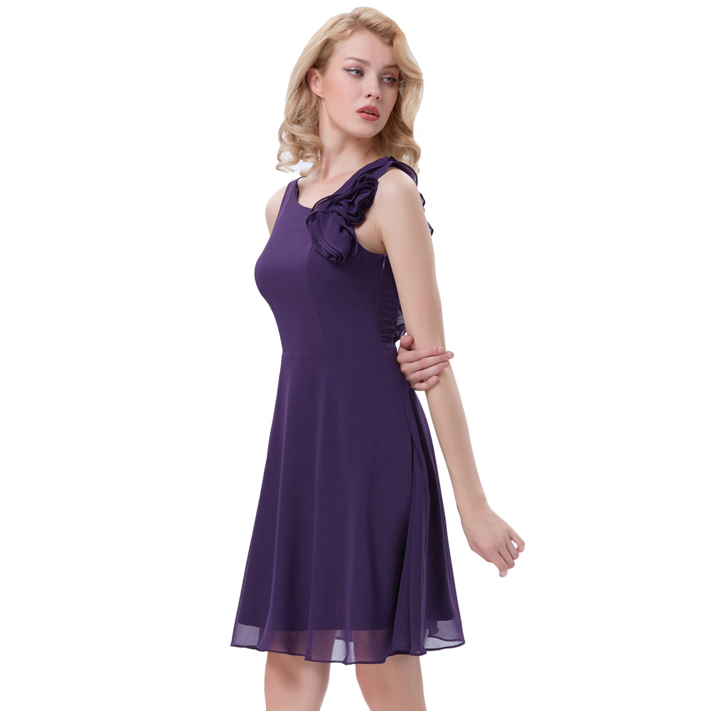 Kate kasin short purple bridesmaid dresses ruffle sleeveless kate kasin short purple bridesmaid dresses ruffle sleeveless wedding party formal dress knee length chiffon bridesmaid gown 1080 in bridesmaid dresses from ombrellifo Choice Image