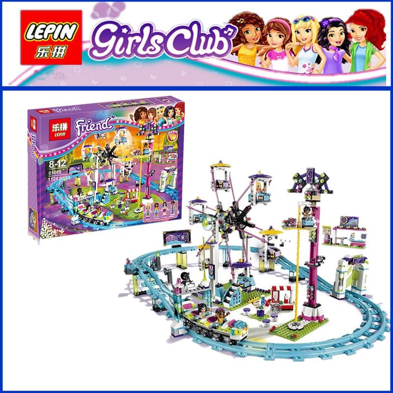EN STOCK LEPIN 01008 1124 Unids de Atracciones Parque de Montaña Kits de Constru