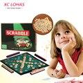 Настольная Игра Scrabble Выучить Английский Кроссворд Орфографии Игра-Головоломка Для Взрослых Семейные Настольные Игры для Детей Развивающие Игрушки Для Детей