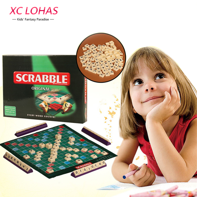 Scrabble Board Game Learn English Crossword Spelling Game Adult Puzzle Family Board Game Children Educational Toys For Kids cool educational toys dump monkey falling monkeys board game kids birthday gifts family interaction board game toys for children