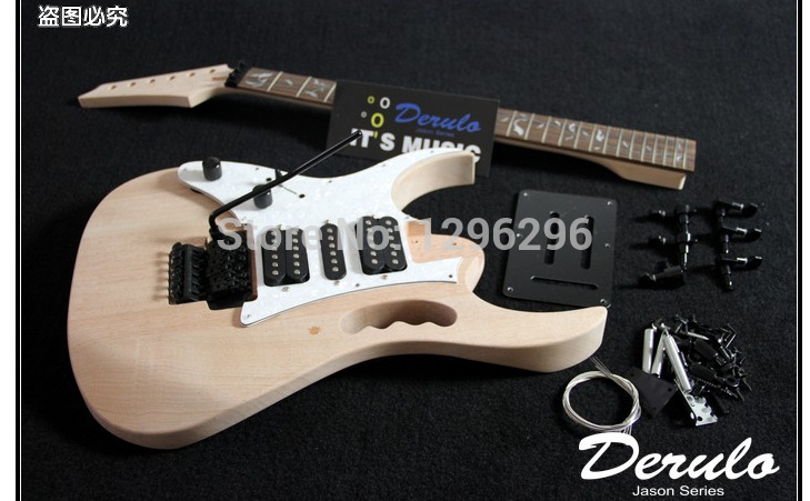 free shipping semi finished products left hand electric guitar neck backhand connection type. Black Bedroom Furniture Sets. Home Design Ideas