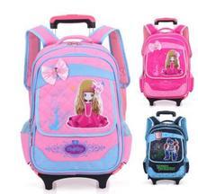 Школьный рюкзак на колесиках для девочек, рюкзак для путешествий для девочек, школьный рюкзак на колесиках, Детский рюкзак с колесиками для школы