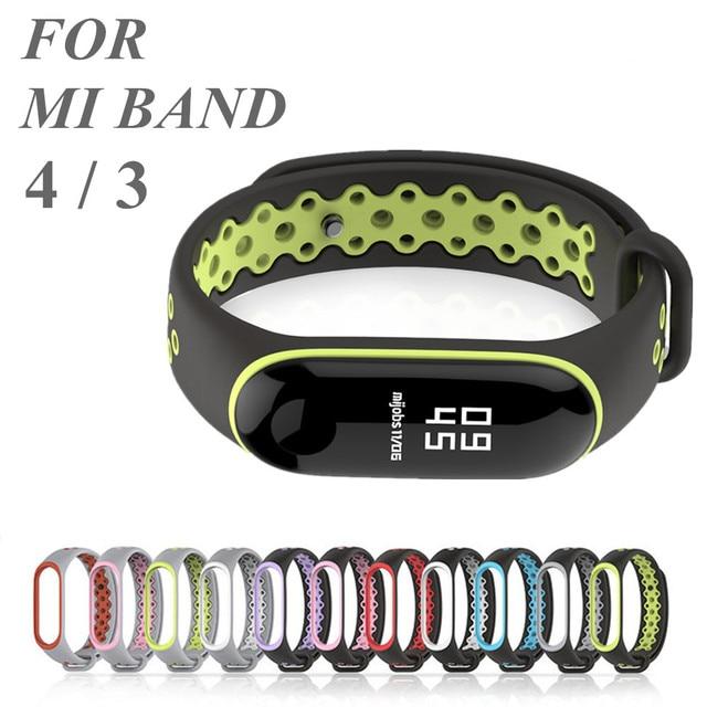 Sport Mi bande 4 3 Bracelet en Silicone bracelet pour Xiaomi mi bande 3 Bracelet de sport pour Mi bande 4 3 band4 bracelet de montre intelligente