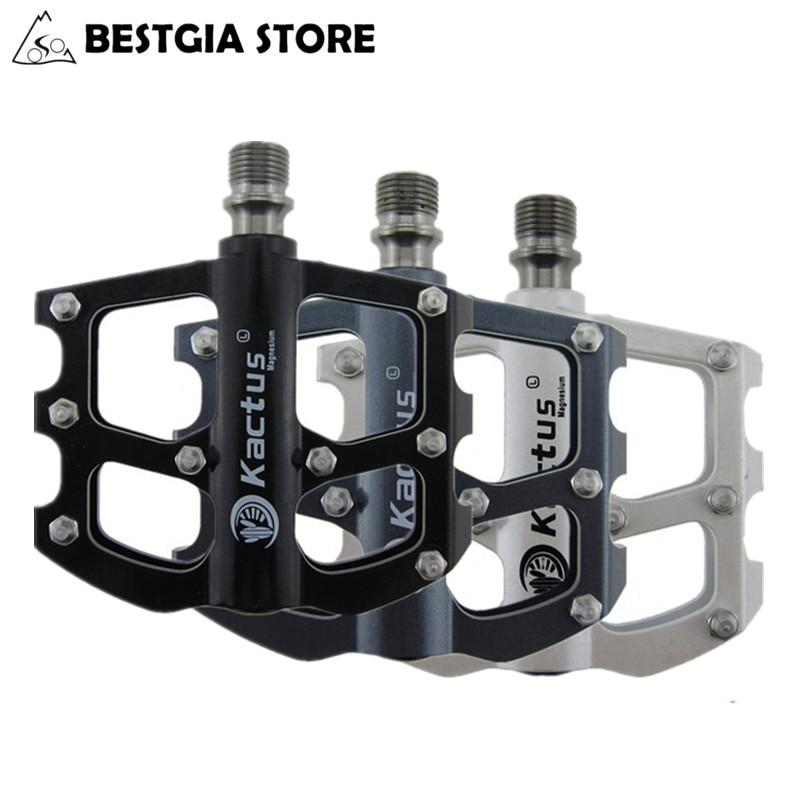 200 g/paire ultra-léger vtt vélo pédales montagne vélo de route pièces avec 6 roulements en alliage de magnésium corps BMX vélo pédales noir