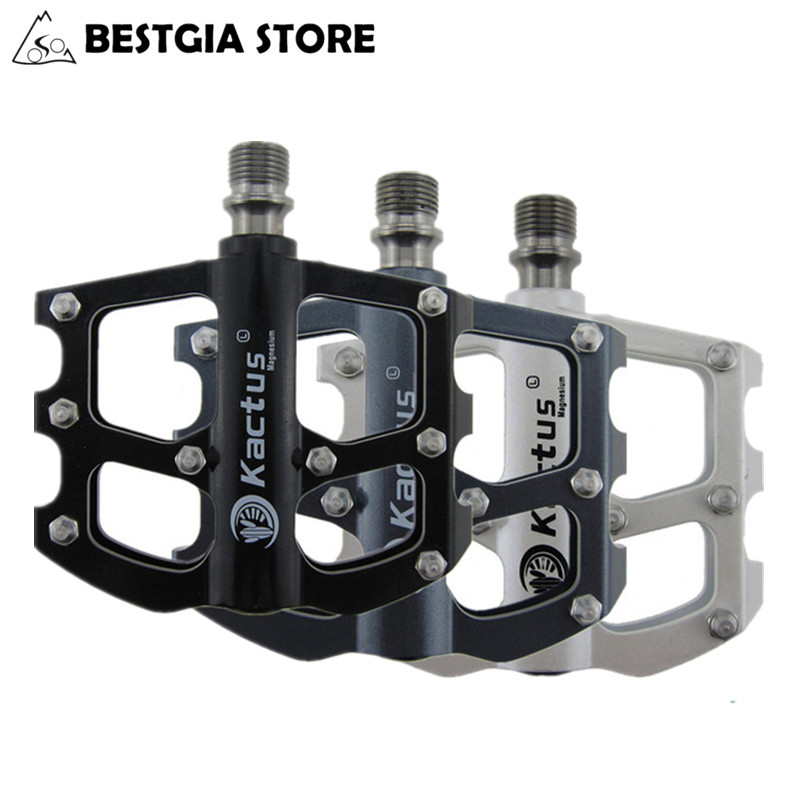 200g/pair Ultralight MTB Bicycle Pedals Mountain Road Bike Parts With 6 Bearings Magnesium Alloy Body BMX Cycling Pedals Black wellgo xpedo sealed bearing bicycle pedals mtb mountain road bike pedals magnesium alloy ultralight cycling pedal bicycle parts