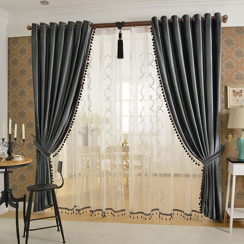 Acquista all'ingrosso Online oro tende camera da letto da ...