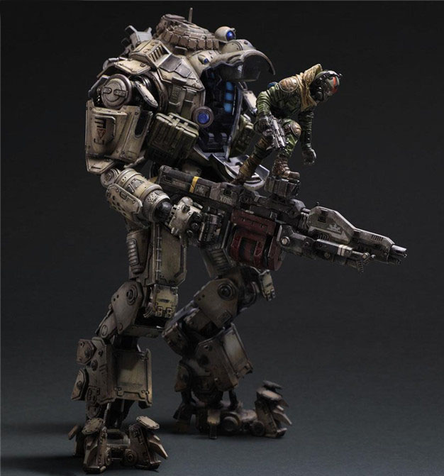 Free Shipping 10 PA KAI Game Titanfall Atlas Boxed 26cm PVC Action Figure Collection Model Doll Toy Gift free shipping super big size 12 super mario with star action figure display collection model toy