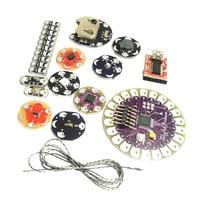 Lilypad Arduino Kit, Sewable Electronics Kit(ATmega328P, LEDs, Temp Sensor, FT232RL, Buzzer, Switch)