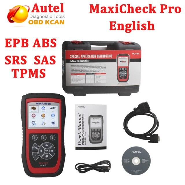 DHL free!!2016  Original Special Application Diagnostics Autel MaxiCheck Pro EPB/ABS/SRS/Climate Control/SAS/TPMS Function