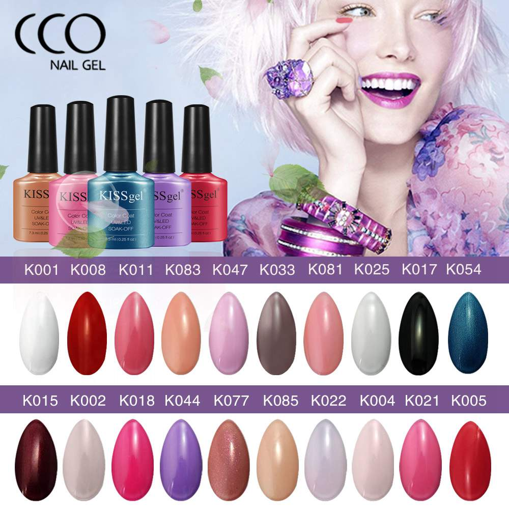 Cco Kiss Gel Nail Polish Pure Colors Lacquer Long Lasting Soak Off Led Uv Varnish Cosmetics Art Paint 33 Choose In From Beauty