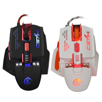 X200 Gewebte Fiber Wired Gaming Mouse Bunte LED Hintergrundbeleuchtung Maus Adjuatable 4000 DPI mit 7 Tasten Maus Für Desktop Laptop Gamer