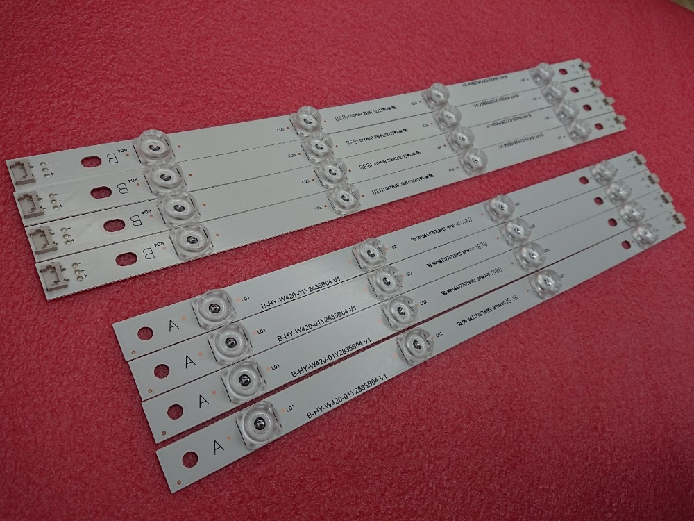 New Kit 8pcs LED Strip Replacement For LG LC420DUE 42LF650 42LB561V 42LB5610 INNOTEK DRT 3.0 42 Inch A B 6916L-1957C 6916L-1956C