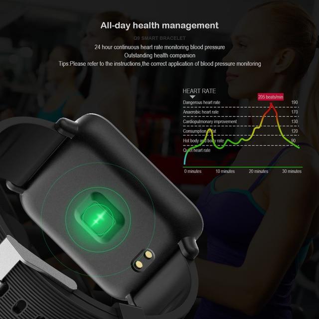 VERYFiTEK Q9 Blood Pressure Heart Rate Monitor Smart Watch IP67 Waterproof Sport Fitness Trakcer Watch Men Women Smartwatch 4