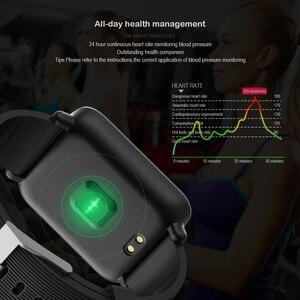 Image 5 - VERYFiTEK Q9 kan basıncı nabız monitörü akıllı saat IP67 su geçirmez spor spor izci izle erkekler kadınlar Smartwatch