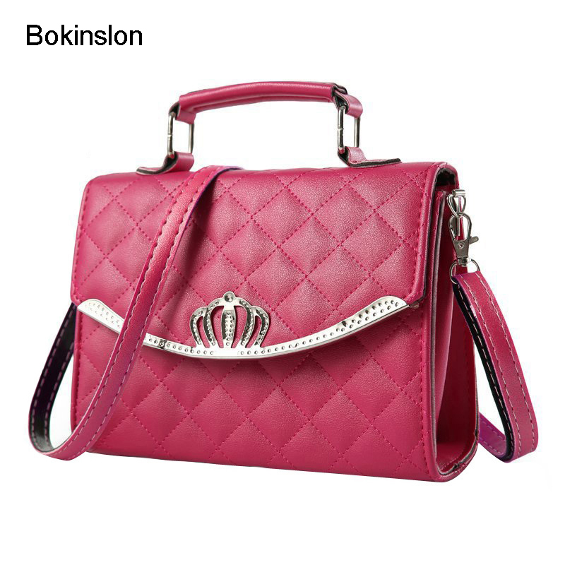 Bokinslon Fashion Women Shoulder Bags Elegant PU Leather Small Women's Handbag Casual Solid Color Female Handbag Designers spring new elegant leather women handbag smooth skin lady shoulder bags female small casual totes cover zipper crossbody packs