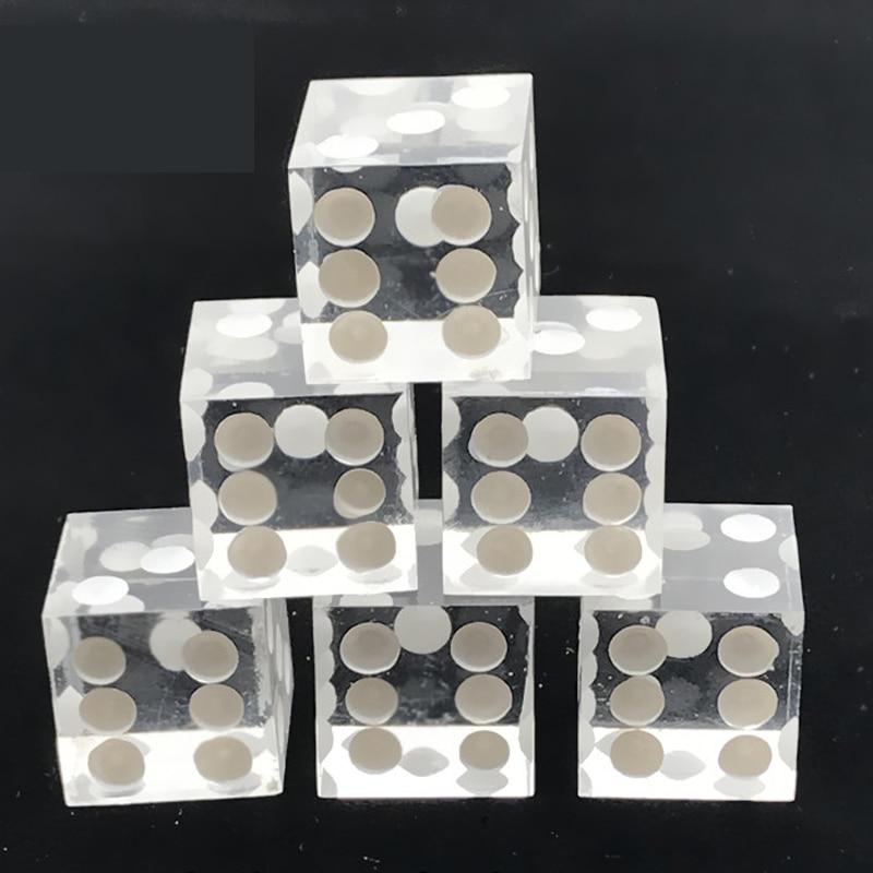 5Pcs/set Acrylic Crystal Transparent Digital Dice Mirror Right Angle Large Size 19mm Dice With Razor Edge