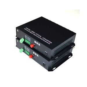 Image 2 - 1 par 2 peças/lote 16 canais de vídeo conversor óptico 16v1d fibra óptica vídeo transmissor óptico & receptor 16ch + rs485 dados