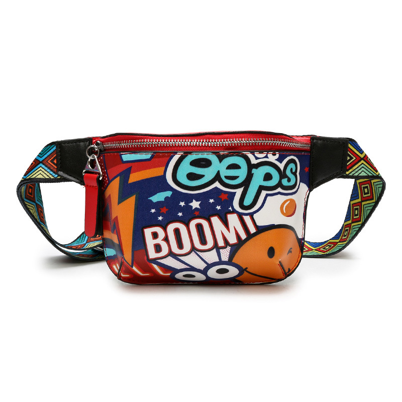 Annmouler Brand Cool Waist Bag Multicolor Waist Packs Adjustable Pu Leather Fanny Pack for Girls Small Zipper Quality Bum Bag
