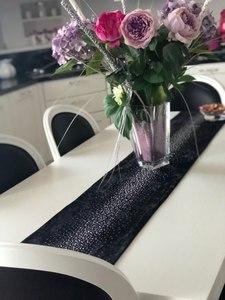 Image 4 - Junwell אופנה מודרני שולחן רץ גיהוץ יהלומי 2 שכבות רץ שולחן בד עם גדילים Cutwork רקום שולחן רץ