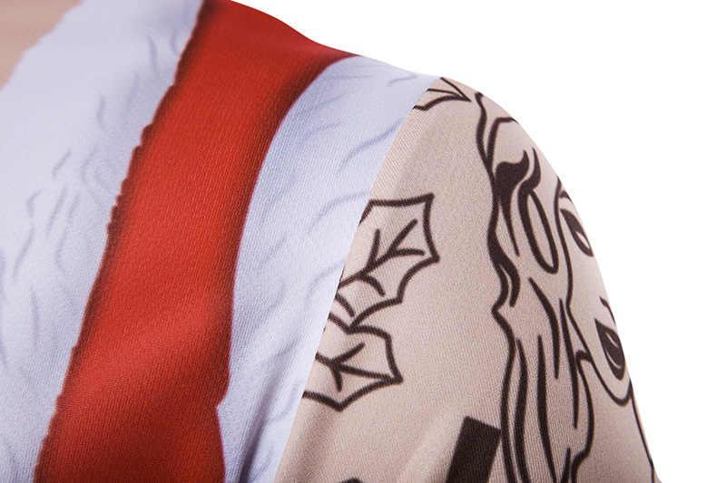 3D faux deux pièces noël Cosplay T-shirt hommes femmes 2018 père noël impression T-shirt Homme Harajuku Hip Hop noël T-shirt Homme