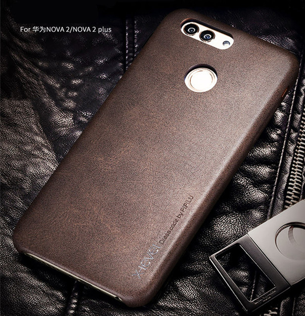 big sale b9791 60363 US $6.88  New back cover case For huawei nova 2 or 2 plus leather cases and  covers 2plus Luxury brand original desgin with retail package-in Fitted ...