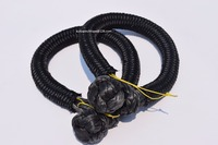 2pcs 9mm 120mm Black Soft Shackles Winch Shackle Synthetic Rope Shackle For Offroad Auto Parts ATV
