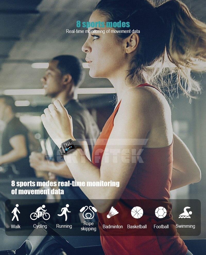 VERYFiTEK Smartwatch Blood Pressure Heart Rate Monitor Men Women Sport Watch Pedometer Stopwatch Smart Watch for IOS Android (11)