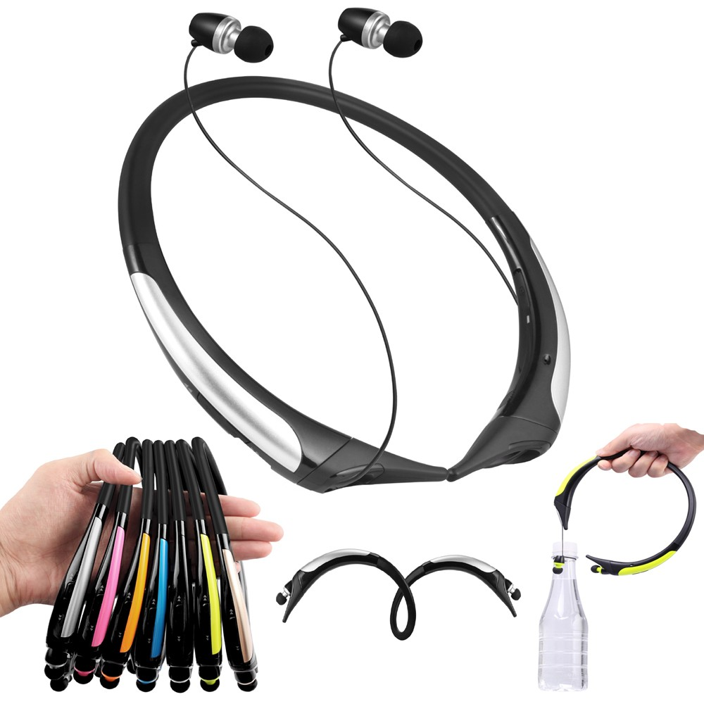 Wirless Bluetooth stereo Headset Retractable Sports sweatband Headphones high quality Bluetooth earphone for LG Iphone Samsung data best price car charger bluetooth headphones 4 0 headset earphone multipoint power for lg for samsung for iphone mar13
