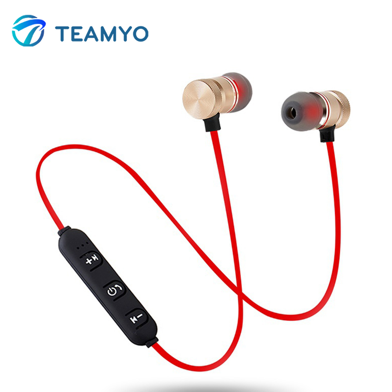Teamyo Bluetooth Wireless Earphones With Mic Magnetic In Ear Sports Bass Bluetooth Earbuds Headset For phone iPhone xiaomi