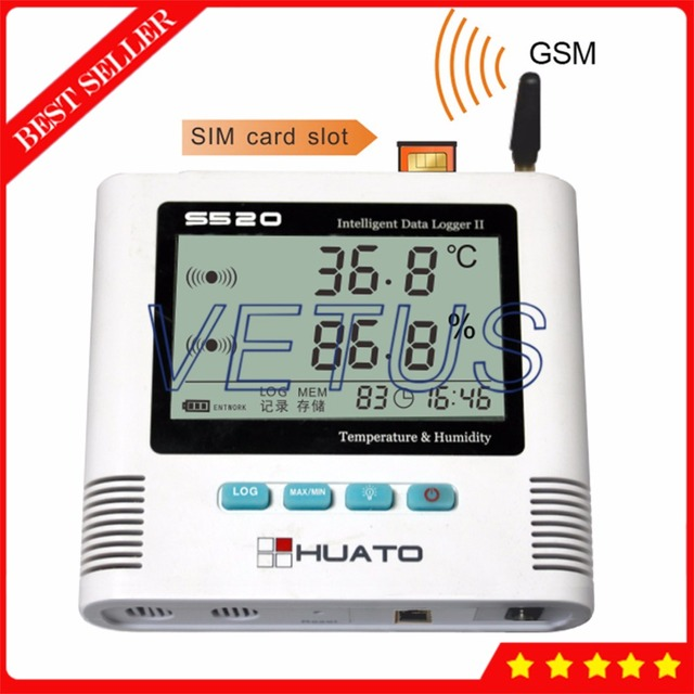 S520-TH-GSM 2 Channel GSM Data Logger Temperature Humidity Datalogger with USB Internal Sensor digital thermo-hygrometer