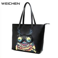 Tote Bags For Women Owl Printing Large Capacity Ladies Handbags Women Fashion Bags 2018 Newest Female