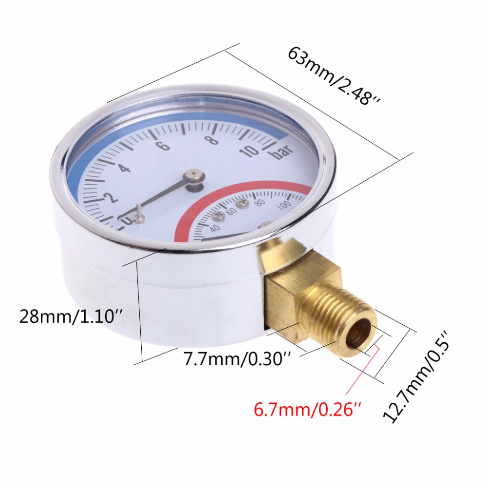 UK Stainless Steel Temperature Oven Thermometer Gauge Kitchen Food Gauge Gage Y5
